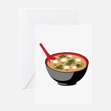 Miso Soup Bowl Greeting Cards