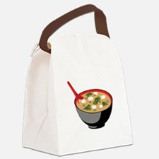 Miso Soup Bowl Canvas Lunch Bag