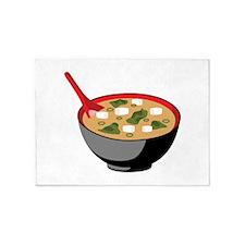 Miso Soup Bowl 5'x7'Area Rug
