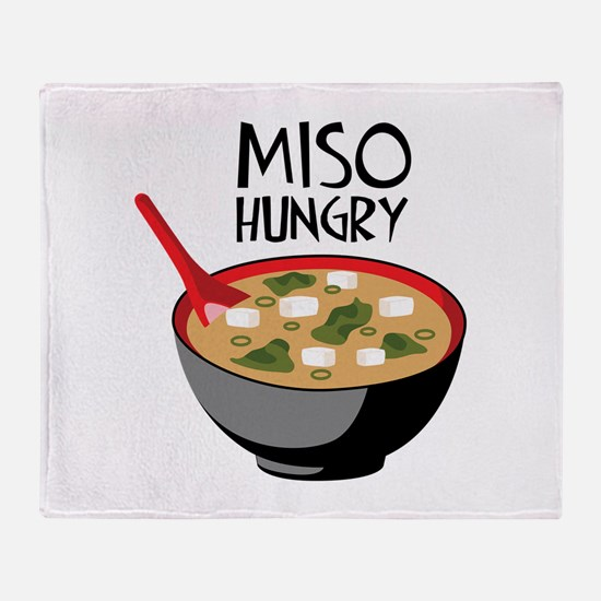 MISO HUNGRY Throw Blanket