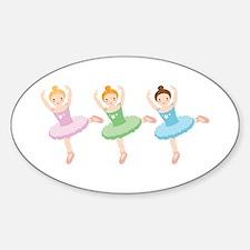 Ballerina Girls Dancing Decal