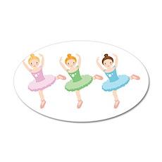 Ballerina Girls Dancing Wall Decal