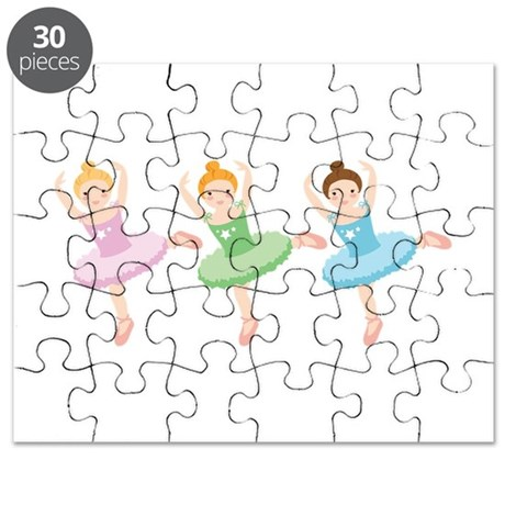 Ballerina Girls Dancing Puzzle