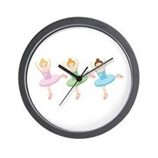 Ballerina Girls Dancing Wall Clock