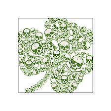 Skulls in a Shamrock Oval Sticker