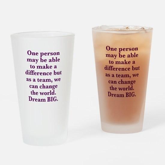Team World Change Drinking Glass