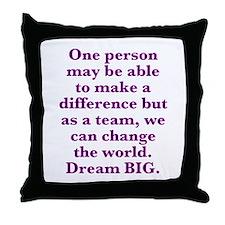 Team World Change Throw Pillow