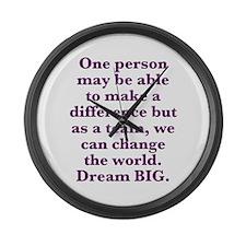 Team World Change Large Wall Clock