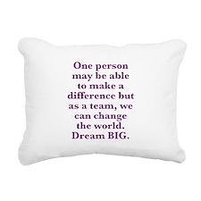 Team World Change Rectangular Canvas Pillow