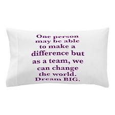 Team World Change Pillow Case