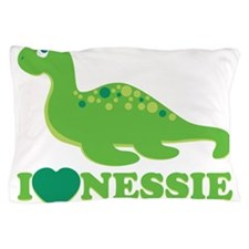 I Love Nessie Pillow Case