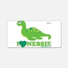 I Love Nessie Aluminum License Plate