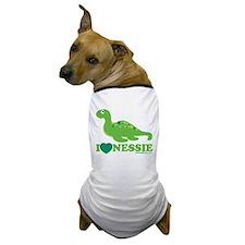 I Love Nessie Dog T-Shirt