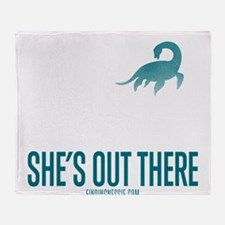 Loch Ness Monster - She's Out There Throw Blanket