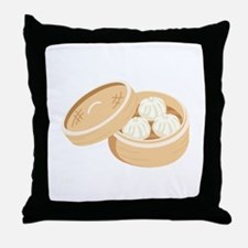 Asian Dumplings Throw Pillow