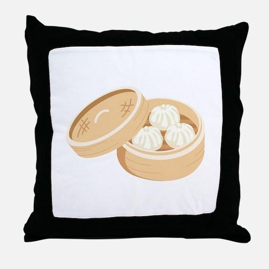 Asian Dumplings Throw Pillow
