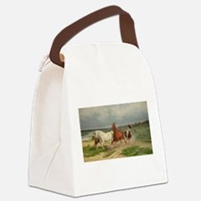 Wild Horses on the Run Canvas Lunch Bag