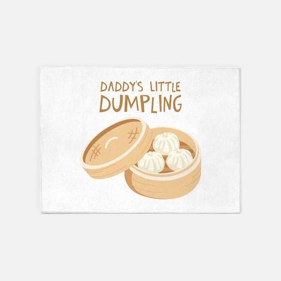 DADDYS LITTLE DUMPLING 5'x7'Area Rug