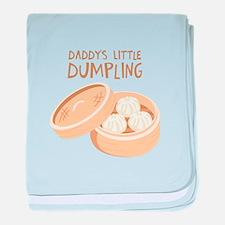 DADDYS LITTLE DUMPLING baby blanket
