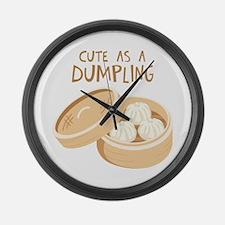 CUTE AS A DUMPLING Large Wall Clock