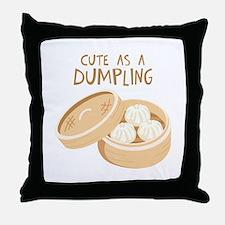 CUTE AS A DUMPLING Throw Pillow