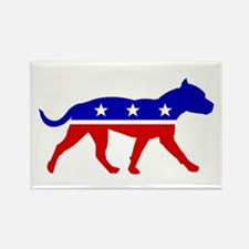 Pit Bull Party Rectangle Magnet (100 pack)