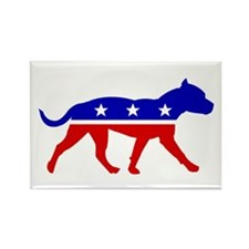 Pit Bull Party Rectangle Magnet