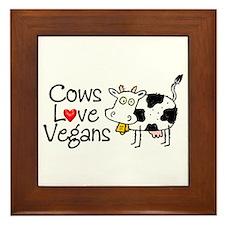 Cows Love Vegans Framed Tile