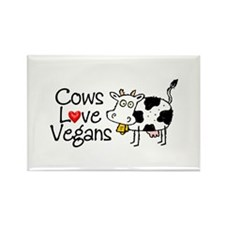 Cows Love Vegans Rectangle Magnet