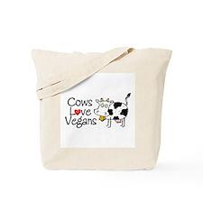Cows Love Vegans Tote Bag
