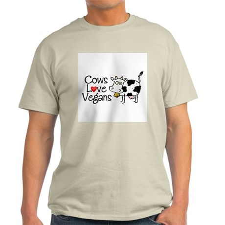 Cows Love Vegans Men's Ash Grey T-Shirt