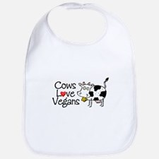 Cows Love Vegans Bib