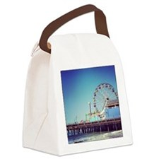 Santa Monica Ferris Wheel Canvas Lunch Bag