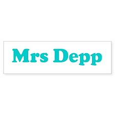 Mrs Depp Bumper Bumper Sticker