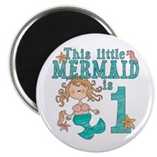 Mermaid First Birthday Magnet