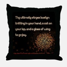 The Ultimate Stressbuster Throw Pillow