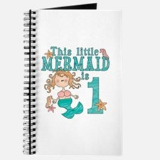 Mermaid First Birthday Journal