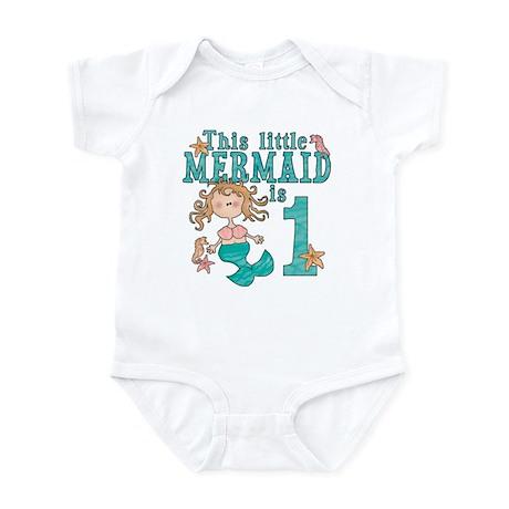 Mermaid First Birthday Infant Bodysuit