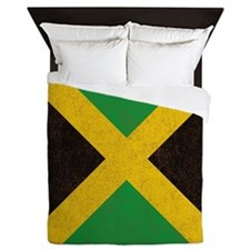 Vintage Jamaican Flag  Queen Duvet