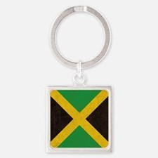Vintage Jamaican Flag  Square Keychain