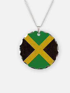 Vintage Jamaican Flag  Necklace