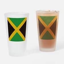 Vintage Jamaican Flag  Drinking Glass