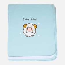 Name your Sheep baby blanket