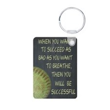 Want To Succeed Fastpitch Aluminum Photo Keychain