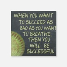 "Want To Succeed Fastpitch S Square Sticker 3"" x 3"""