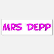 Mrs Depp Bumper Bumper Bumper Sticker