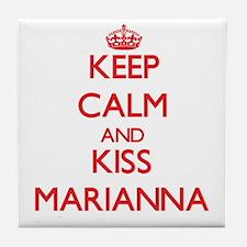 Keep Calm and Kiss Marianna Tile Coaster