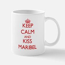 Keep Calm and Kiss Maribel Mugs