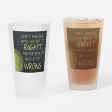 Practice Fastpitch Softball Motivat Drinking Glass