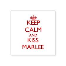 Keep Calm and Kiss Marlee Sticker